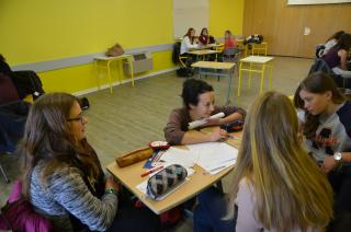 Désirée Snackey au lycée Rabelais de St Chély d'Apcher en Lozère