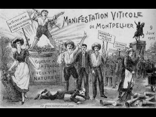 Gravure datant de 1900 sur les manifestations viticoles