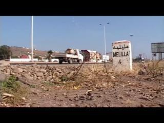 route et panneau de route Melilla