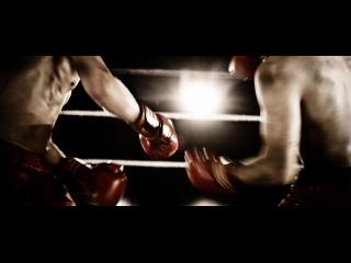 Gros plan du buste de deux boxeurs en train de combattre