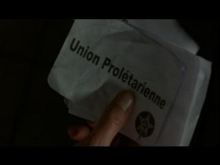 """Gros plan sur un bulletin de vote sur lequel est inscrit """"Union prolétarienne"""""""