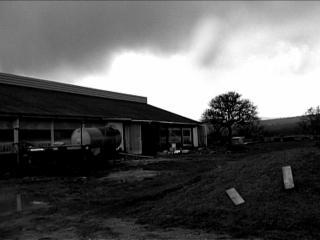 Photot en noir & blanc d'une bergerie
