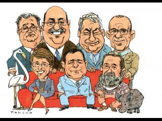 Caricature des candidats à la mairie de Fleury-d'Aude