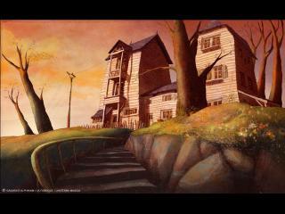 Image d'animation : Maison du personnage principal au lever du soleil