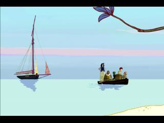 Un bateau et un canot de sauvetage navigant sur une mer calme