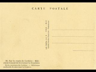 Verso d'une carte postale des années 1930