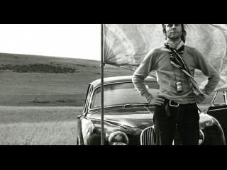 Jean-Daniel Pollet sur le Causse Méjean (tournage du film Le Sang, 1972)