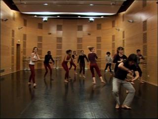 Cours de danse des élèves du conservatoire de danse de Montpellier